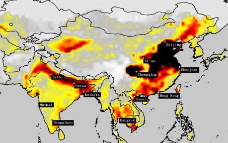 Satellite data: India had worse air pollution than China.